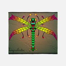 Meadowlantern Dragonfly panel Throw Blanket
