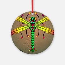 Meadowlantern Dragonfly panel Round Ornament