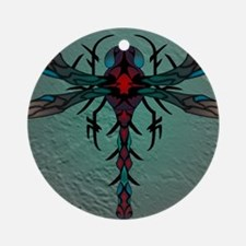 Waterstone Dragonfly panel Round Ornament
