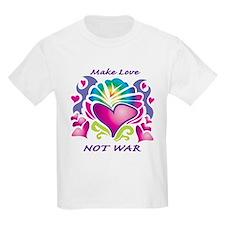 Make Love Not War Kids T-Shirt