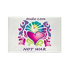 Make Love Not War Rectangle Magnet