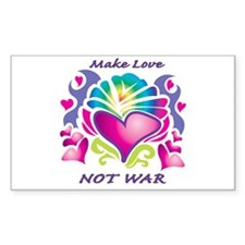 Make Love Not War Rectangle Decal