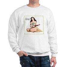 Brunette Pinup Aloha Sweatshirt