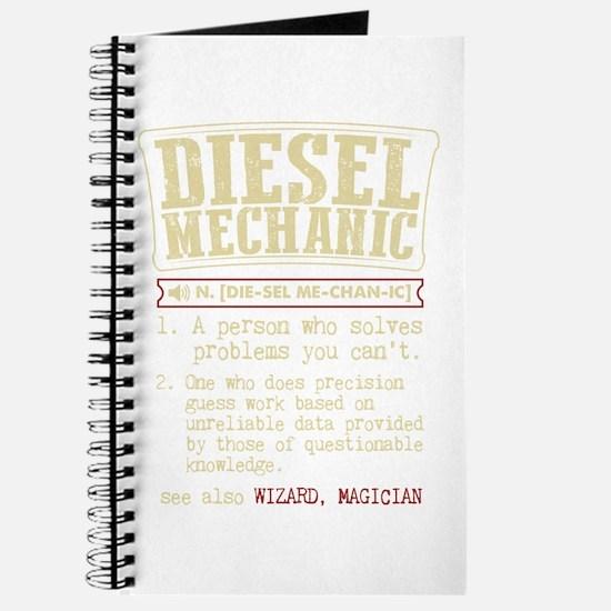 Diesel Mechanic Dictionary Term T-Shirt Journal