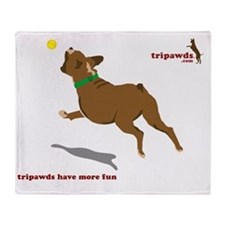tripawd fun boxer letter Throw Blanket