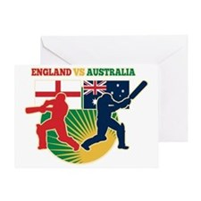 cricket sports batsman England vs Au Greeting Card