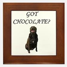 Got Chocolate Framed Tile
