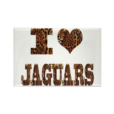 i love jaguars Rectangle Magnet (10 pack)