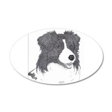 Border Collie face Wall Decal