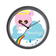 pig angel Wall Clock
