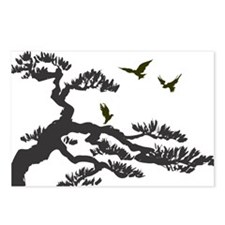 bonsi and birds Postcards (Package of 8)