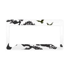 bonsi and birds License Plate Holder