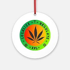 legalize regulate tax round Round Ornament