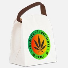 legalize regulate tax round Canvas Lunch Bag