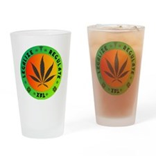 legalize regulate tax round Drinking Glass