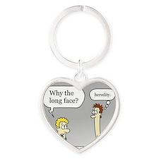 longface3shrunkcafepress Heart Keychain
