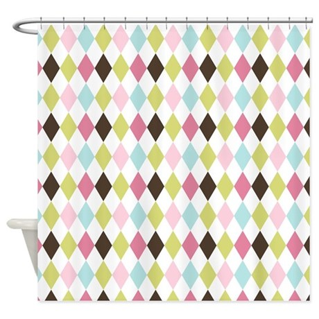 Multi Colored Diamonds Shower Curtain By Thechicboutique85