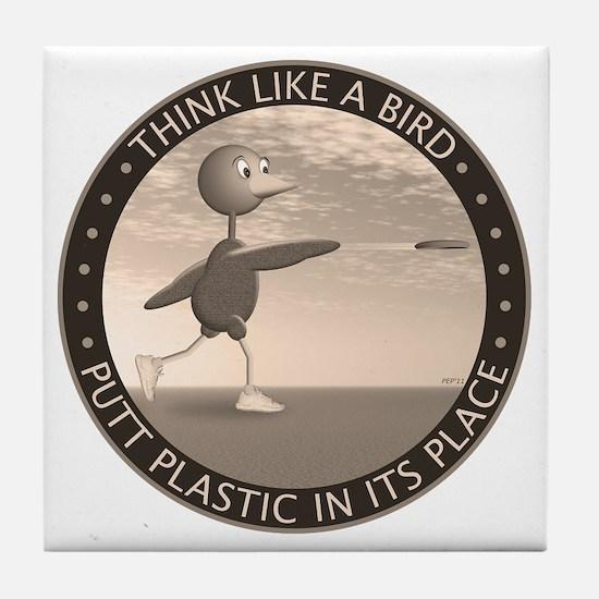 feb11_new_bird_sepia Tile Coaster