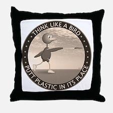 feb11_new_bird_sepia Throw Pillow