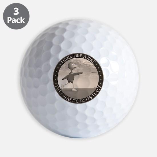 feb11_new_bird_sepia Golf Ball