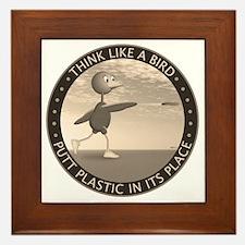feb11_new_bird_sepia Framed Tile