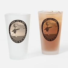 feb11_new_bird_sepia Drinking Glass