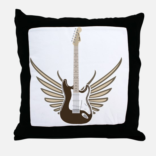 winged-strat copy Throw Pillow