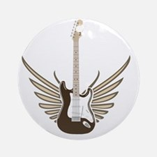 winged-strat copy Round Ornament