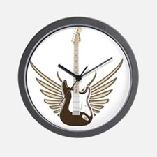 winged-strat copy Wall Clock