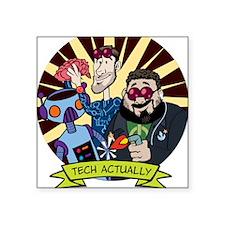 "Tech-Mouse-Mat Square Sticker 3"" x 3"""
