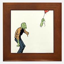 Poor zombie Framed Tile