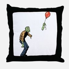Poor zombie Throw Pillow