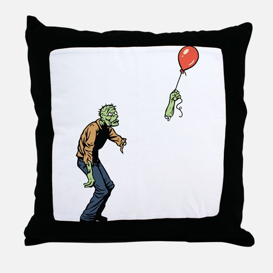 Poor zombie Throw Pillow