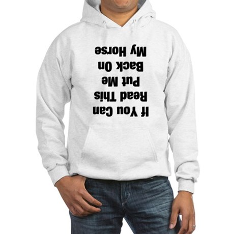 If you can read this...(black Hooded Sweatshirt