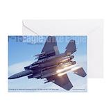 F 15e strike eagle Greeting Cards