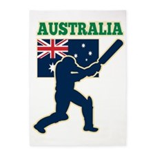 cricket sports batsman  Australia f 5'x7'Area Rug