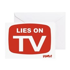 LIES ON TV Greeting Card