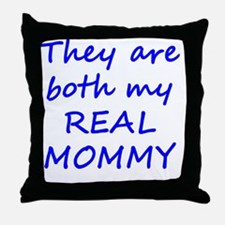 Real Mommy - Blue Throw Pillow