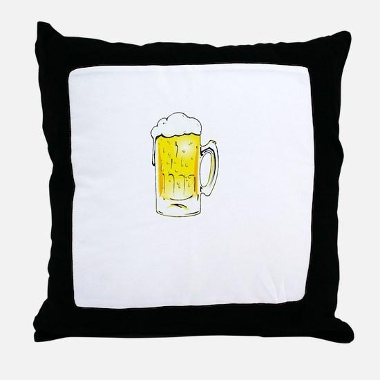 Wedding is Near - Black Throw Pillow