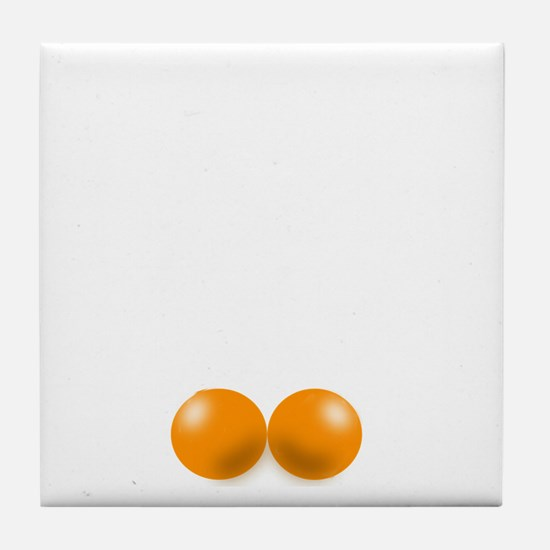 Pete Schweddy balls 2 Tile Coaster