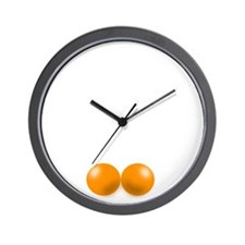 Pete Schweddy balls 2 Wall Clock
