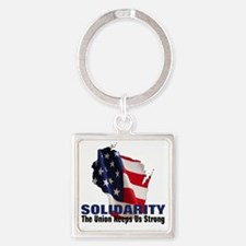 solidarity5 Square Keychain
