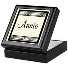 Annie Mural Script Bookplate Storage Box