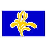 Brussels Flag Rectangle Sticker