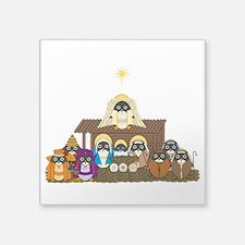 """Nativity Square Sticker 3"""" x 3"""""""