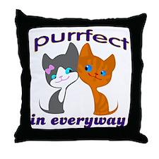 purrfect kitten Throw Pillow
