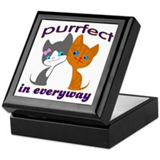 purrfect kitten Keepsake Box