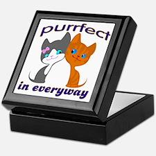 purrfect kitten Keepsake Box