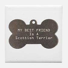 Friend Scottish Terrier Tile Coaster