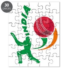 cricket sports batsman batting India Puzzle